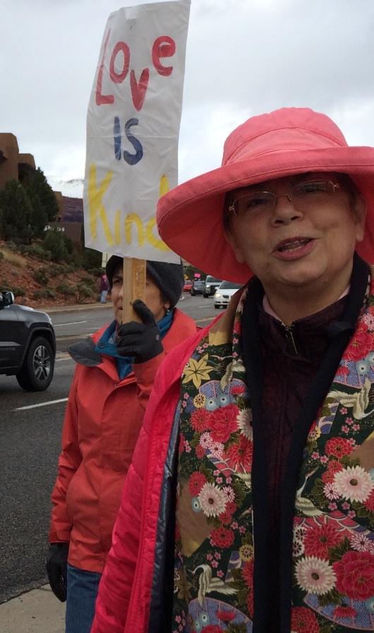 Diane Nadeau Protest March