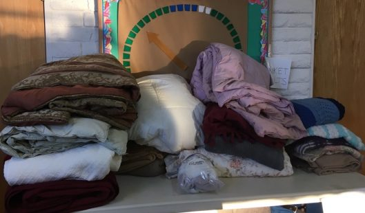 Blankets collected for Service project